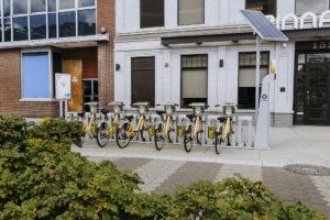 Pacer bikes at docking station